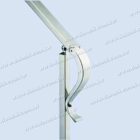 Stainless Steel End-Caps - Stainless Steel Rectangle Tube S Shape End Cap