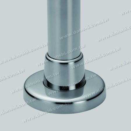 - for Round Pipe - Stainless Steel Round Tube Handrail 3 Pieces Round Base - Screw Invisible