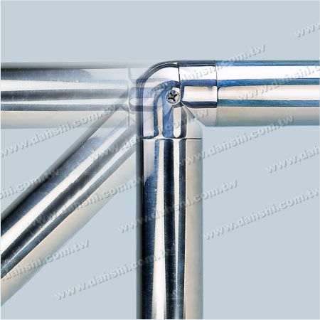 90 degree - Adjustable - Stainless Steel Round Tube Internal Elbow Angle Adjustable