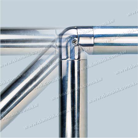 90 degree - Adjustable - Stainless Steel Round Tube Internal Elbow Angle Adjustable