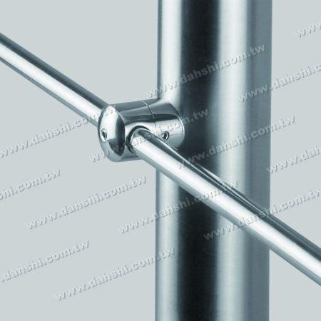 Cross Tube Bar Holder Fixing Base - Stainless Steel Tube/Bar Holder Go Through