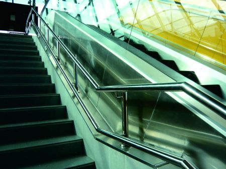 Stainless Steel Handrail for Stair in Metro Station of Centro de los Heroes