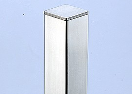 Stainless Steel End-Cap for Square Pipe