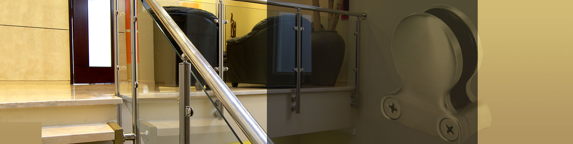 Rostfreier Stahl Zubehör für Balustraden für Glas