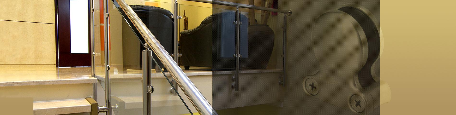 स्टेनलेस स्टील बलुस्ट्रेड सहायक उपकरण कांच के लिए