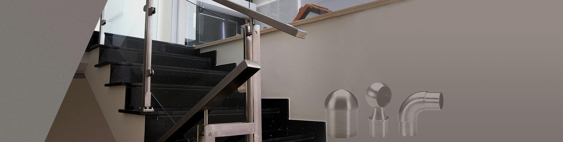 Нержавеющая сталь Перила Фитинги для квадратных и прямоугольных труб