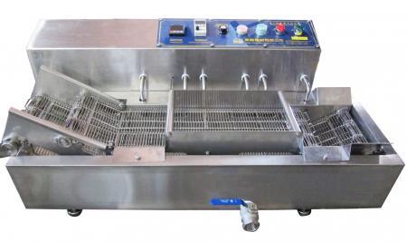 Elektrisch beheizte Tischbratmaschine - Elektrische Fritteuse mit Aufsatzförderband