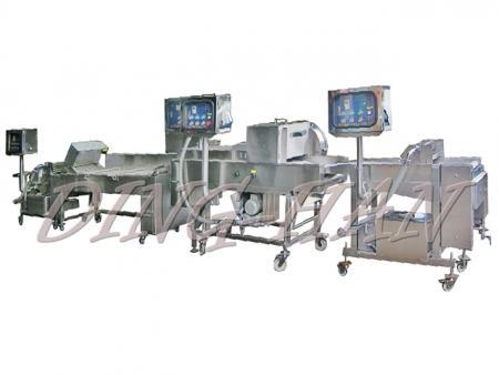 Ding-Han Kundenspezifische Burrito Frittier-Produktionslinie
