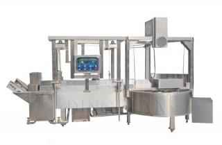 L-Typ-Frittiermaschine (mit Hebesystem) - Tempura/Fleischbällchen/Fischbällchen kontinuierliche Frittiermaschine