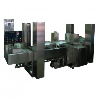 Tauchrohr-Frittiermaschine mit speziellem Hebesystem - Tauch- und Schaber-Frittiermaschine