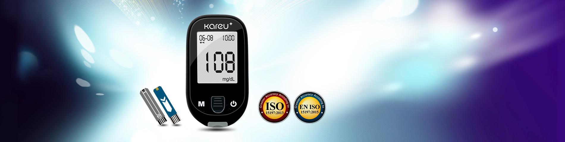 Medidor de   glicose no sangue de  reação rápida e alta precisão Monitora os níveis de glicose no sangue regularmente