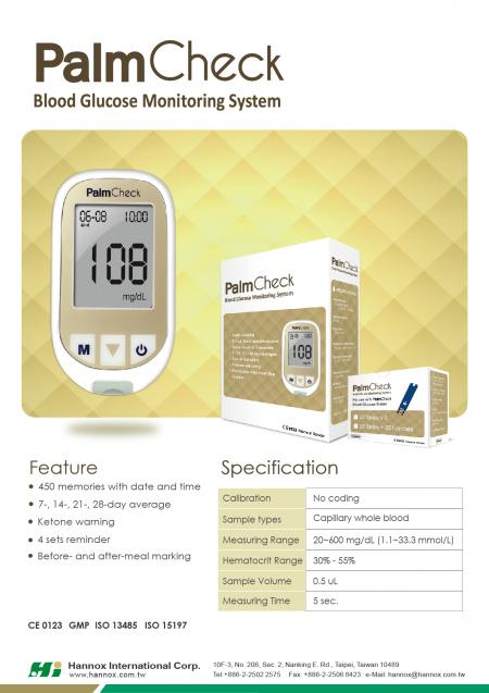 Blood Glucose Monitoring System - PalmCheck