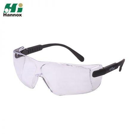 Adjustable Temple Type Protective Eyewear - Adjustable Temple Type Protection Eyewear