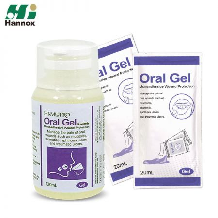 Gel Oral HI-MUPRO (Botella) - Enjuague bucal para heridas Oral gel