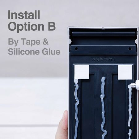 Soap Dispenser Tape+Silicone glue installation