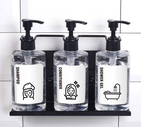 Triple Shower Dispenser Wall Holder
