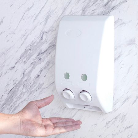 Wall Mounted Double Soap Dispenser
