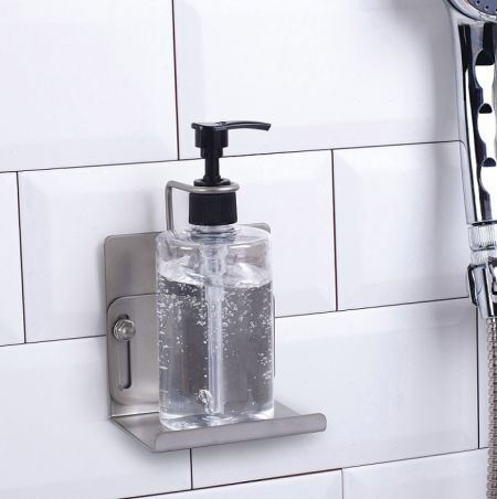 Stainless Steel Wall Mounted Hand Soap Bottle Holder-Vintage Silver