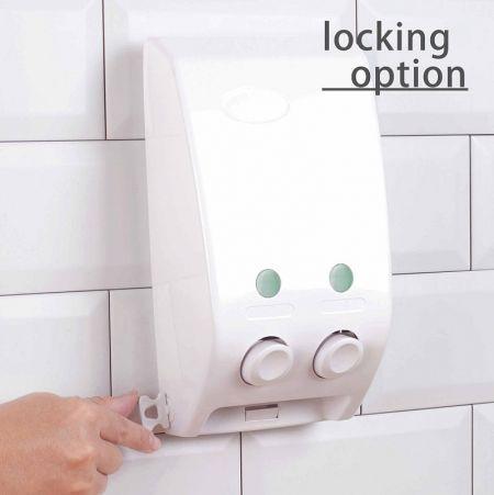 Lockable with better security for hotel use soap dispenser