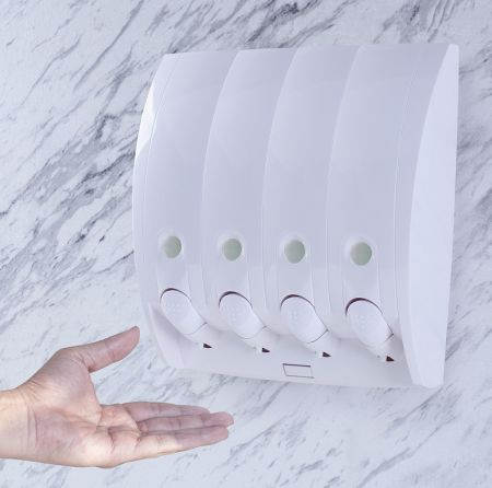 Hotel Use Wall Mount 4 in 1 Soap Dispenser