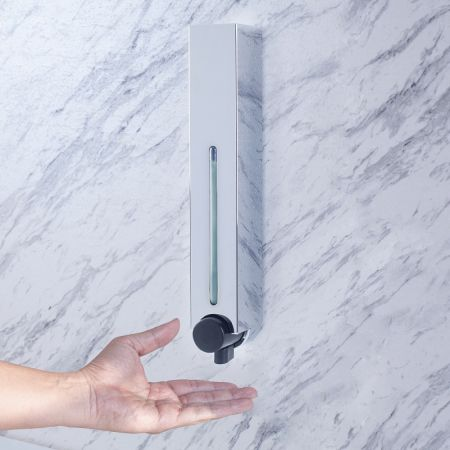 Square Soap Dispenser on Wall