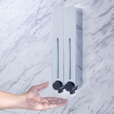 Chrome Plastic Wall Dispenser