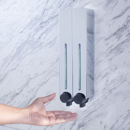 Chrome Plastic Wall Dispenser