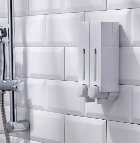 موزع صابون سائل مثبت على الحائط