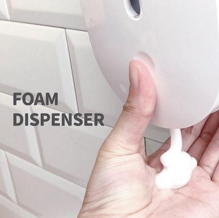 Foam soap dispenser for public toilet