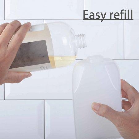 Refillable public bathroom foam soap dispenser