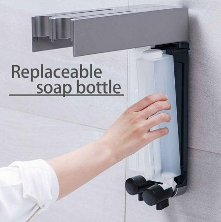 Easy replace soap dispenser