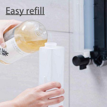 Easy refill soap dispesner