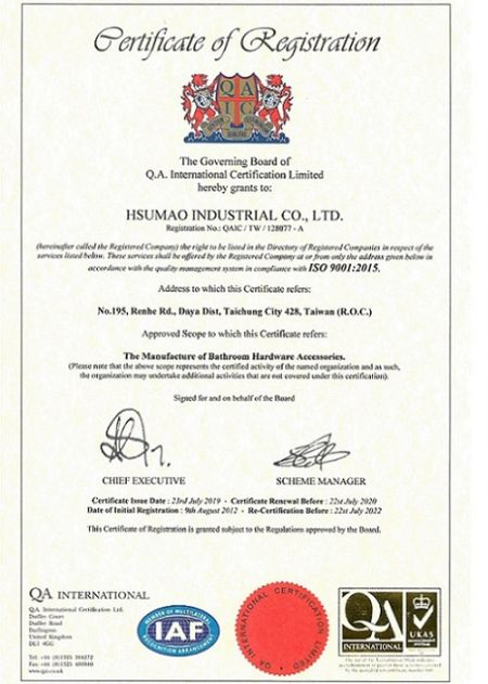 ISO 9001 approved Certifiate