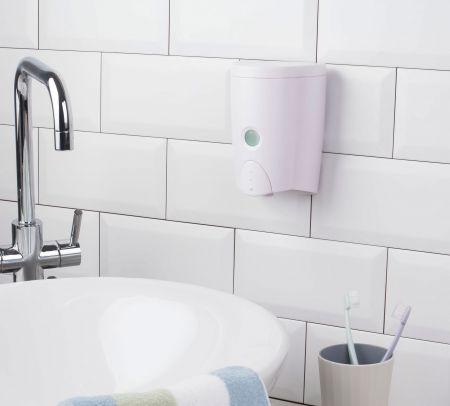 洗手專用-免鑽孔壁掛式按壓罐