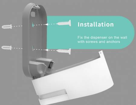 Easy installation wall mount dispenser