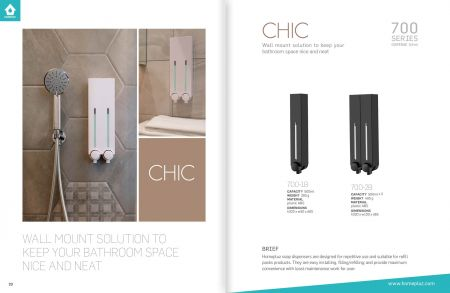 DH-700 Chic - Dispenser Shower Terpasang di Dinding