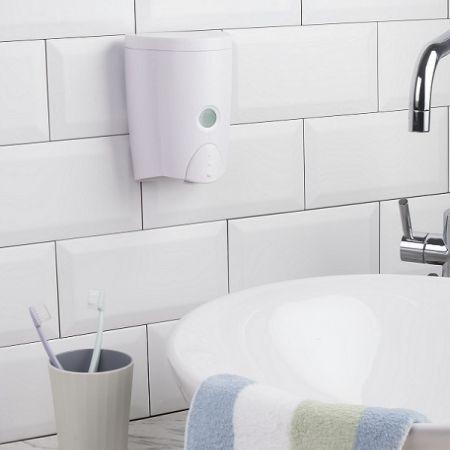موزع صابون المطبخ سهل الملء مثبت على الحائط