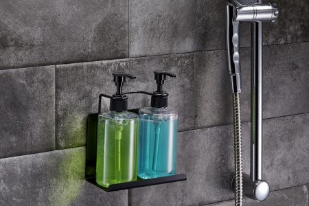 Stainless Steel Wall Mount Soap Dispenser Holder for Home and Hotel