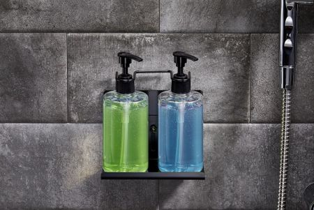 Wall Mount Dual Soap Dispenser Holder