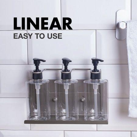 تركيبات زجاجة حائط مقاومة للعبث من الفولاذ المقاوم للصدأ للصابون والشامبو