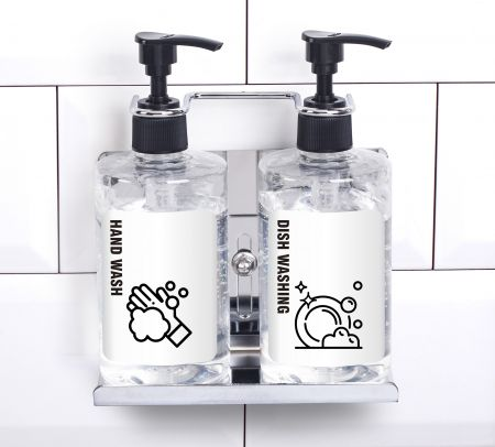 dual soap  bottle holder Linear-2CP
