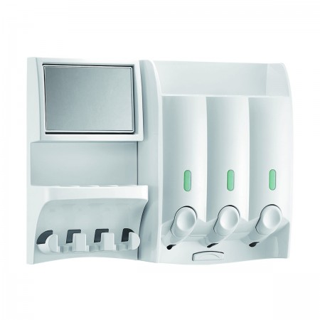 shower caddy dispenser with mirrow