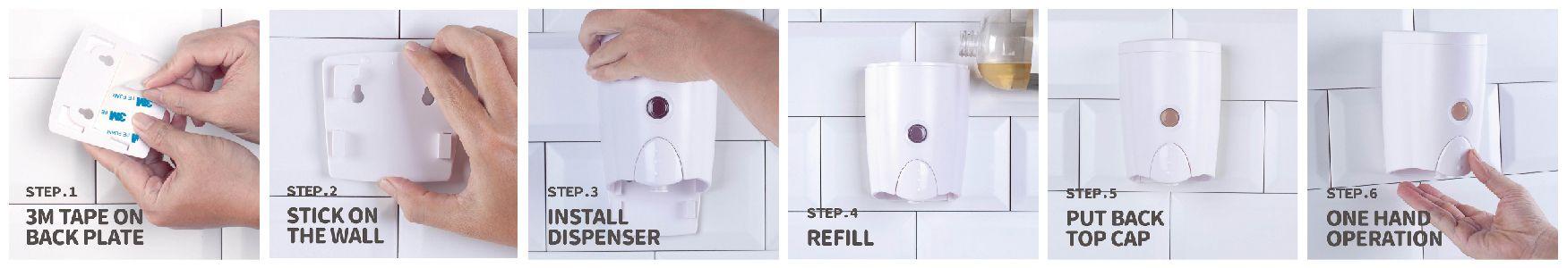 Dispensador de instalación rápida y listo para usar