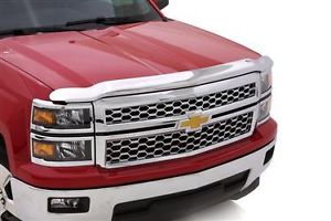 Hood Shield Chrome - Silverado 1500 Hood Guard or Bug Deflector Chrome