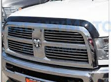 Hood Shield Smoke - Dodge Ram 2500/3500 Hood Guard Bug Deflector Smoke