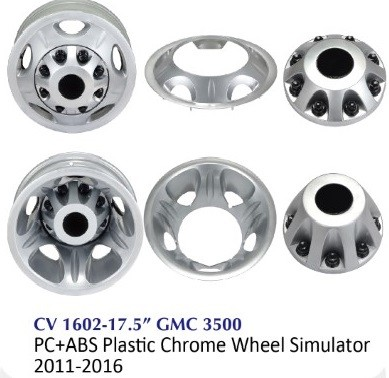 Chrome Truck Wheel Simulator - CV1602-17.5 GMC 3500