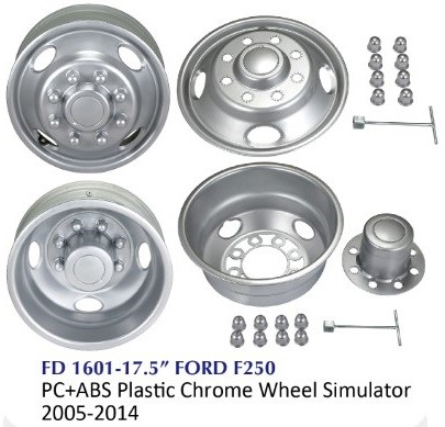 Chrome Truck Wheel Simulator - FD 1601-17.5 FORD F250