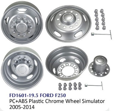 Chrome Truck Wheel Simulator - FD 1601-19.5 FORD F250