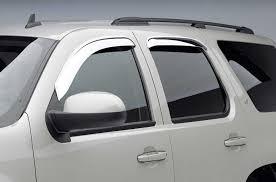 Window Visor Chrome - 2014 Silverado Window Visor Extended Cab