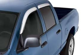 Window Visor Chrome - 2014 Silverado Window Visor Crew Cab